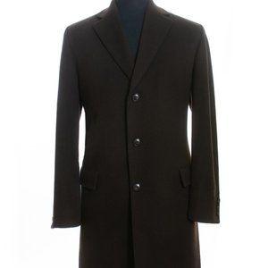 Hugo Boss Brown Cashmere Blend Sterling Coat XL